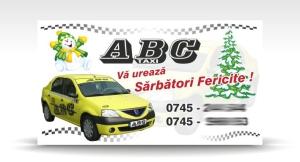 carte de vizita taxi ABC