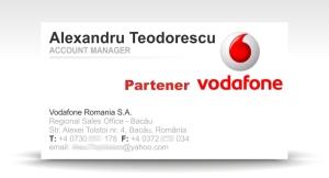 carte de vizita Vodafone