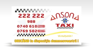 carte de vizita taxi ANSONA