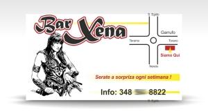 carte de vizita bar XENA