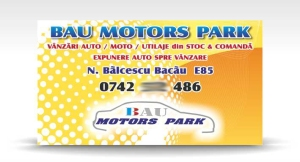 carte de vizita BAU MOTORS PARK
