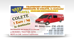 carte de vizita BEST TRAVEL