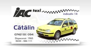carte de vizita taxi IAC