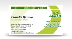 carte de vizita INTERNATIONAL PAPER