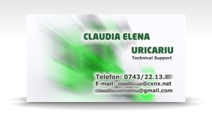 carte de vizita technical support