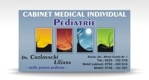 carte de vizita pediatrie