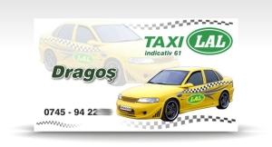 carte de vizita taxi LAL