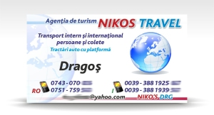carte de vizita NIKOS TRAVEL