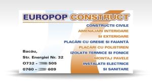 carte de vizita EUROPOP CONSTRUCT