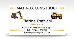 carte de vizita MAT RUX CONSTRUCT