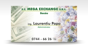 carte de vizita mega exchange