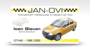 carte de vizita taxi JAN-OVI