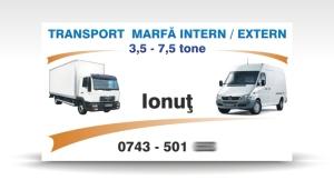 carte de vizita transport marfa