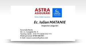 carte de vizita ASTRA Asigurari