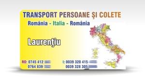 carti de vizita transport persoane